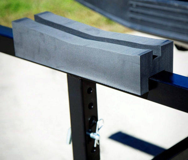 Darby foam kayak blocks provide extra stability to the Extend-A-Truck load extender.