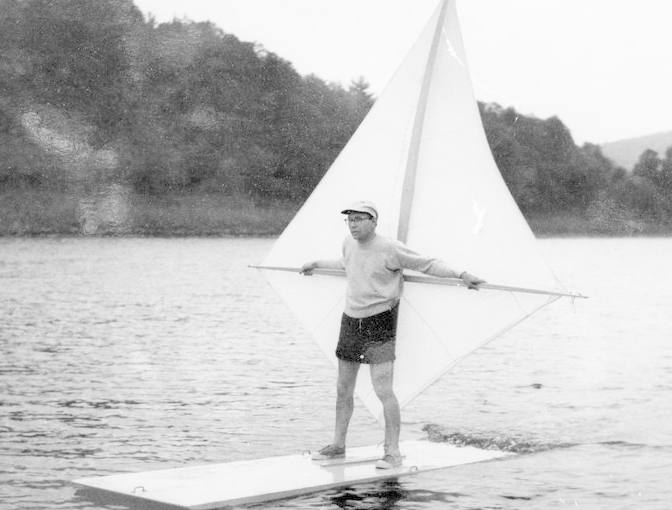 Newman Darby pioneered the sport of windsurfing with his sailboard designs in 1964.